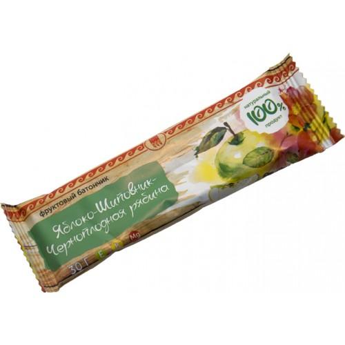 Батончик фруктовый Яблоко-шиповник-черноплодная рябина  г. Екатеринбург